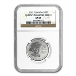 2012 1/4 oz Silver Canadian $20 Diamond Jubilee Coin SP-69 NGC