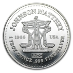 1 oz Johnson Matthey Silver Round (Freedom - The American Way)