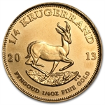 2013 1/4 oz Gold South African Krugerrand