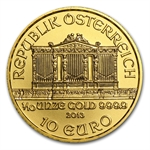 2013 1/10 oz Gold Austrian Philharmonic