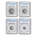 2006-W 4-Coin Burnished Platinum Eagle Set MS-70 PCGS