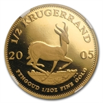 2005 1/2 oz Proof Gold South Africa Krugerrrand NGC PF-69 UCAM