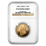 2002 1/2 oz Gold South Africa Krugerrand NGC PF-69 UCAM