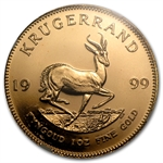 1999 1 oz Gold South African Krugerrand NGC MS-66