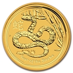 2013 1/4 oz Gold Lunar Year of the Snake (Series II)