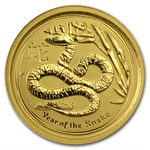 2013 1/20 oz Gold Lunar Year of the Snake (Series II)