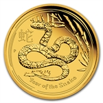 2013 1/10 oz Proof Gold Lunar Year of the Snake (Series II)