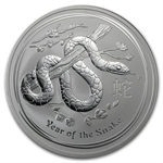 2013 10 oz Silver Australian Lunar Year of the Snake (SII)