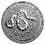 2013 5 oz Silver Australian Lunar Year of the Snake (SII)