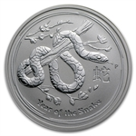 2013 2 oz Silver Australian Lunar Year of the Snake (SII)