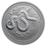 2013 1/2 oz Silver Australian Lunar Year of the Snake (SII)
