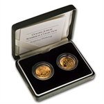 Great Britain 2002 2 Coin Golden Jubilee Sovereign Collection