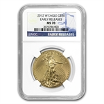 2012-W 1 oz Burnished Gold American Eagle MS-70 NGC (ER)