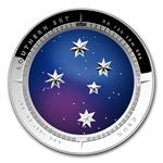 Australian 2012 Proof Silver $5 Color Domed - Crux Southern Sky