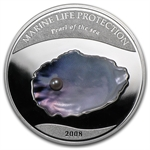 Palau 2008 Silver $5 Marine Life Protection - Pearl of the Sea