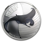 2012 1/2 oz Proof Silver Manta Ray - Sea Life II NGC PF-70 UCAM