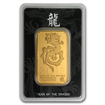 2012 Year of the Dragon 1 oz Gold Bar .999 Fine (In Assay)