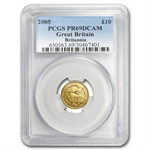 2005 1/10 oz Proof Gold Britannia PR-69 DCAM PCGS