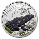 Palau 2011 Silver Proof $2 World of Frogs- Purple Atelopus Certus