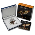 Palau 2011 Silver Proof $2 World of Frogs- Orange Atelopus Certus