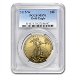 2012-W 1 oz Burnished Gold American Eagle MS-70 PCGS