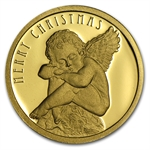 Cook Islands $10 Gold Proof Christmas Angel