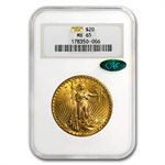 $20 Saint-Gaudens Gold Double Eagle - MS-65 PCGS/NGC CAC