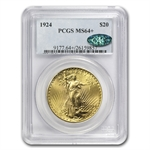 $20 Saint-Gaudens Gold Double Eagle - MS-64+ PCGS CAC