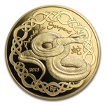 2013 1/4 oz Gold Proof Year of the Snake (50 Euro) - Lunar Series