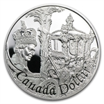 2002 Canada Proof Silver $1 - The Queen's Golden Jubilee
