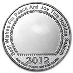 2012 1/2 oz Child Angel Enameled Silver Round (w/Stocking)
