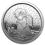 2012 1/2 oz Child Angel Silver Round (w/Stocking & Cap)