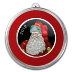 2012 1/2 oz Santa Enameled Silver Round (w/Stocking & Capsule)