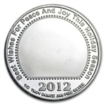 2012 1/2 oz Santa Silver Round (w/Stocking & Capsule)