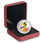 2012 Birds of Canada $0.25 Coloured - Golden Evening Grosbeak