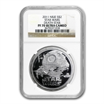 2011 Star Wars 1oz Silver PF-70 UCAM NGC - Death Star