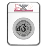 2013 5 oz Silver Lunar Year of the Snake (SII) NGC MS-70 (ER)