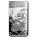 1/2 oz Year of the Snake Silver Bar .999 Fine