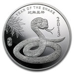 2 oz Year of the Snake Silver Round .999 Fine