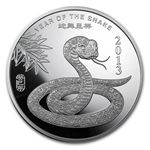 5 oz Year of the Snake Silver Round .999 Fine