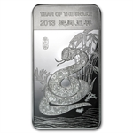 10 oz Year of the Snake Silver Bar .999 Fine