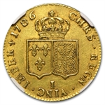 France 1786-I 2 Louis D'or Gold AU 53 NGC
