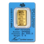 5 gram Rose Pamp Suisse Gold Dream Bar (In Assay)