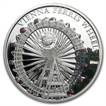 Palau 2012 Silver Proof $5 World of Wonders - Vienna Ferris Wheel