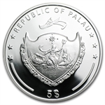 Palau 2012 .594 oz Silver Proof $5 World of Wonders - Teotihuacán