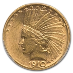 1910-S $10 Indian Gold Eagle - AU-58 PCGS