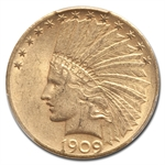 1909-S $10 Indian Gold Eagle - AU-58 PCGS
