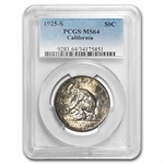 1925-S California Diamond Jubilee MS-64 PCGS