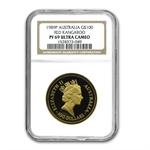 1989 1 oz Australian Proof Gold Nugget NGC PF-69