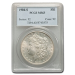 1904-S Morgan Dollar MS-63 PCGS